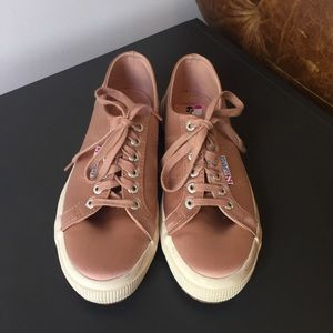 Superga Blush Satin Sneakers sz 39
